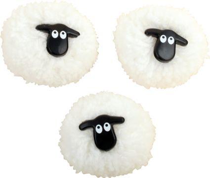 Sheep Pom Pom Magnet M150