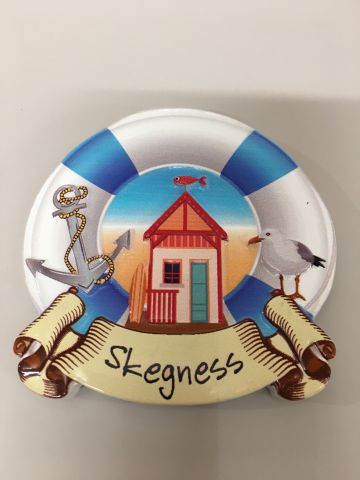 Skegness Lifebuoy Beach Hut Magnet