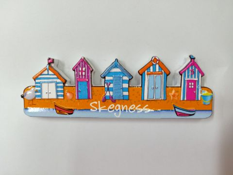 Skegness Row Of Beach Huts Magnet