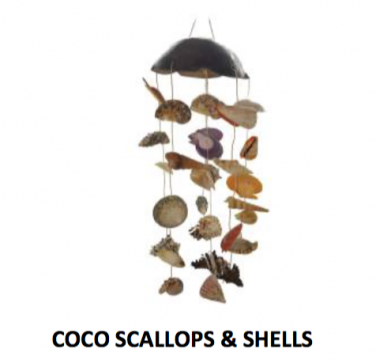Solid Coconut Sea Shell Mobile