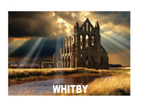 Whitby Abbey Metal Magnet