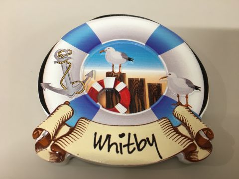 Whitby Lifebuoy Seagull Magnet