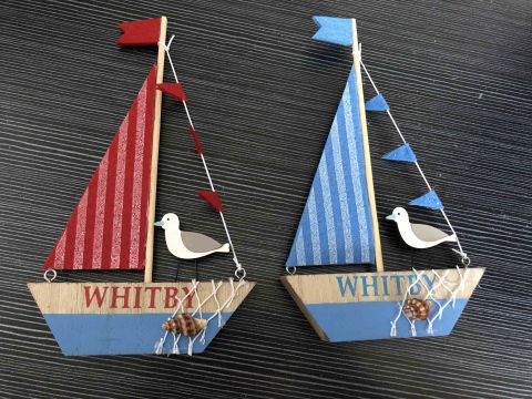 Whitby Wooden Sailing Boat
