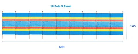 10 Pole Tall Windbreak WT077