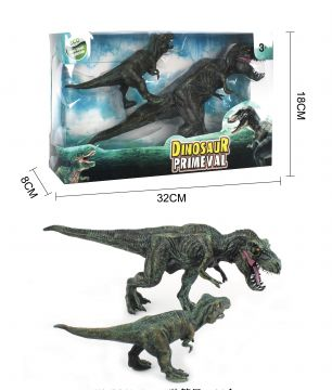 30cm / 17cm Pack Of 2 Dinosaurs 3 Astd Designs