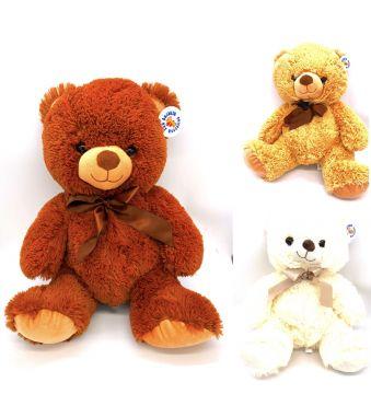 40cm Large Plush Bear 3 Astd PL011