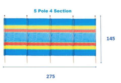 5 Pole Tall Windbreak