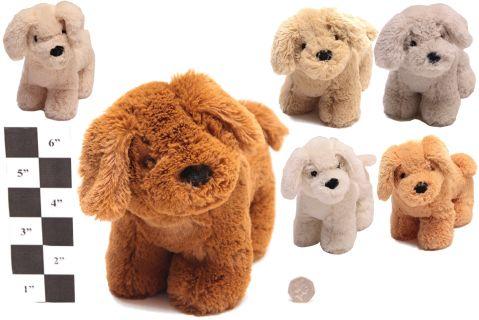 6 Astd 24cm  Plush Dog