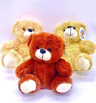 "7"" 3 Assorted Plush Bear"