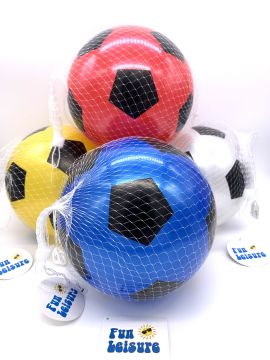 "23cm/9"" 4 Assorted Pvc Football in net"