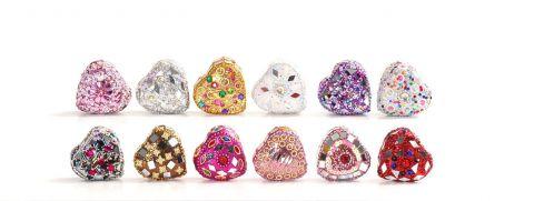 Heart Shaped Glitter Trinket Box