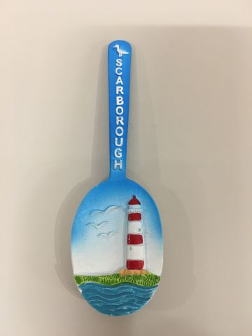 Scarborough Spoon Lighthouse Resin Magnet