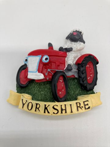 Yorkshire Sheep On Tractor Magnet