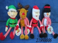 18cm 4 Assorted Xmas Plush CP01