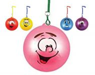 "30cm / 12"" Fruity Smiley Ball On Spring"