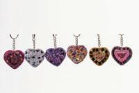 Astd. Glitter Heart Keyring