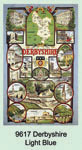 Derbyshire Light Blue Tea Towel