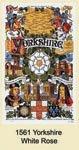 Yorkshire White Rose Tea Towel