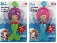 19cm Pull String Swimming Mermaid 2 Astd