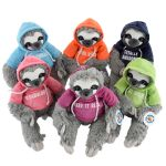 25cm Hooded Sloth 6 Astd