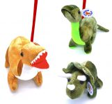 3 Assorted Large Plush Dinosaur With Lead