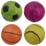 """3"""" Astd Sorbo Rubber Ball in Display"""