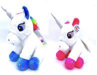 30cm 2 Assorted Plush Sitting Unicorn