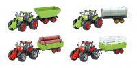 48cm Giant Friction Farm Tractor & Trailer 4 Astd