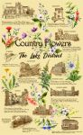 Lake District Country Flowers Tea Towel