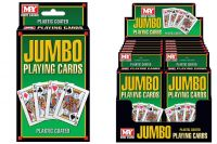 Plastic Coated Jumbo Playing Cards In Display Box