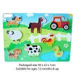 Wooden Farm Puzzle 12months +