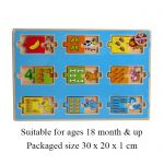 Wooden Number Puzzle 18 months +